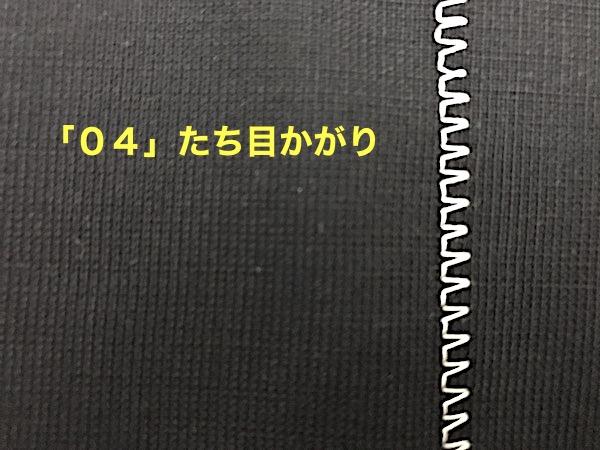 「04」たち目かがりの様子