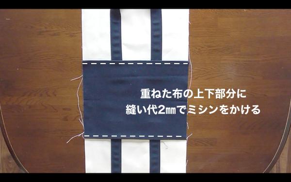 底布を本体布に縫い付ける
