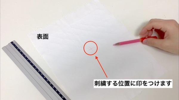 チャコペンで印をつける