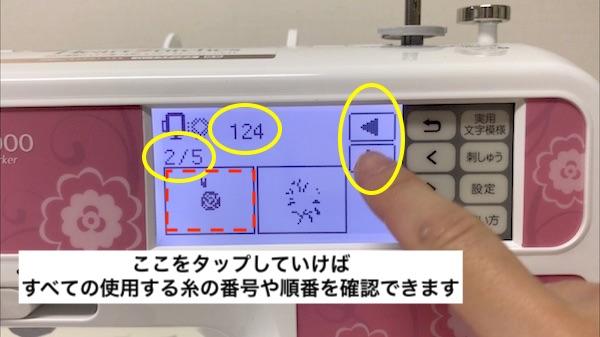 液晶画面の表示の説明