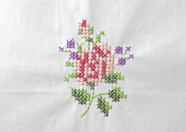 刺繍糸を使って刺繍ミシンを使った場合