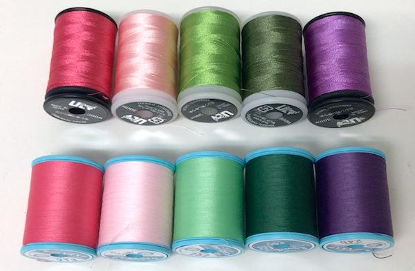 刺繍用ミシン糸と似たミシン糸を用意