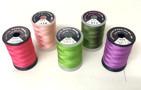 刺繍糸の上糸