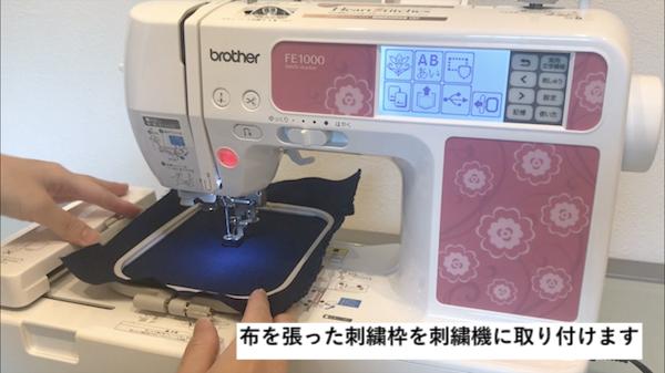 文字刺繍のやり方4