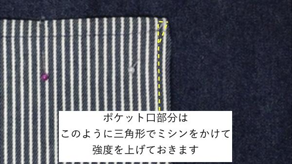 ポケットを縫い付ける2
