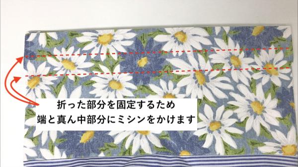 表布と裏布を合わせて仕上げる16