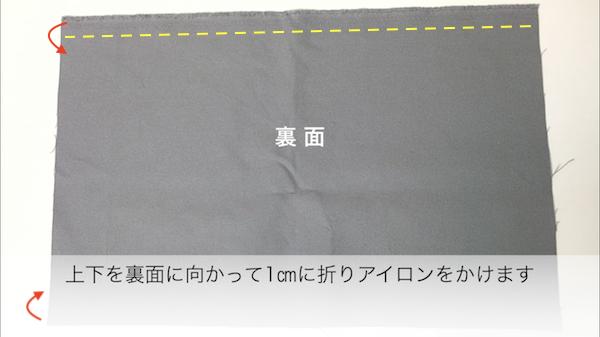 底布を縫い付ける2