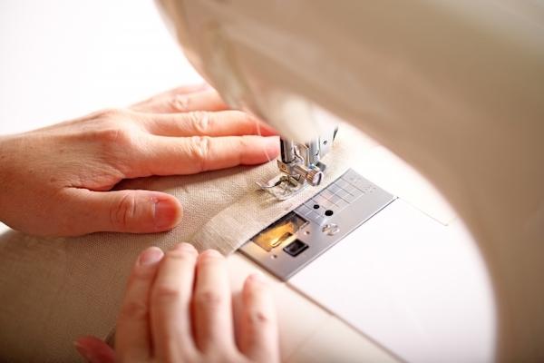 ミシンの縫い模様
